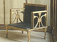 A chair discovered in the tomb of Queen Hetepheres I, discovered at Giza and dating from the Old Kingdom