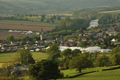 The Hay Festival site. Photo: Finn Beales