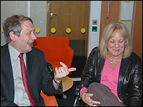 Sue Townsend and Sir Peter Soulsby