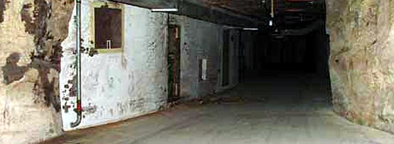 One of the roads in the bunker