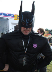 Batman - with sticker - pic by Kaz Willmer