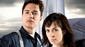 John Barrowman as Captain Jack Harkness and Eve Myles as Gwen Cooper