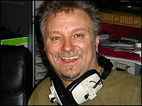 Barry Tomes in the studio