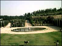 The formal garden at the Palace