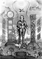An engraving entitled 'Oliver Cromwell, Lord Protector of England,