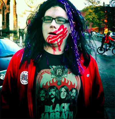 Graeme Virtue taking part in last year's Glasgow Zombie Walk