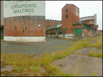 Outside the flax mill