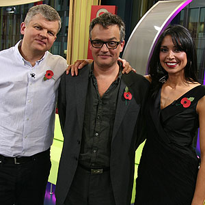 Adrian and Christine with Charlie Higson