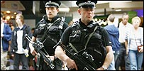 Police at Glasgow airport