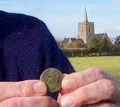 Image of a Roman coin found in Thriplow