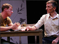 Liam and Danny from the play - played by Joe Armstrong and Jonathan McGuinness