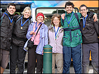 The BBC South walking team