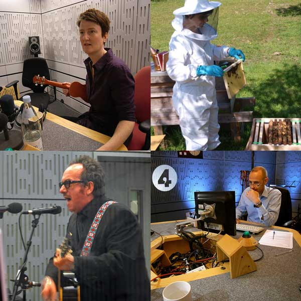 Kathy Clugston, Fran Barnes, Elvis Costello and Evan Davis on Radio 4