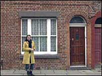 Ana Boulter outside number nine Madryn Street