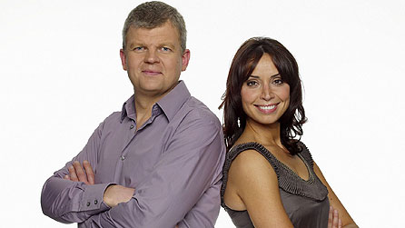 The One Show presenters Adrian Chiles and Christine Bleakley (image: BBC/Jim Marks)