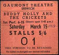 Buddy Holly ticket