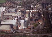 Aerial view of Nestle Rowntree factory, York