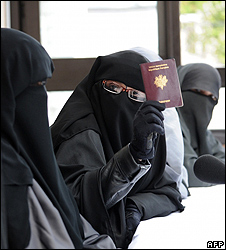 French Muslim women in niqab - file pic