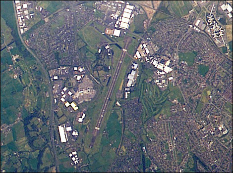 Bristol from space - pictures from Nasa