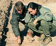 Tony Pollard and Neil Oliver investigate a battlefield