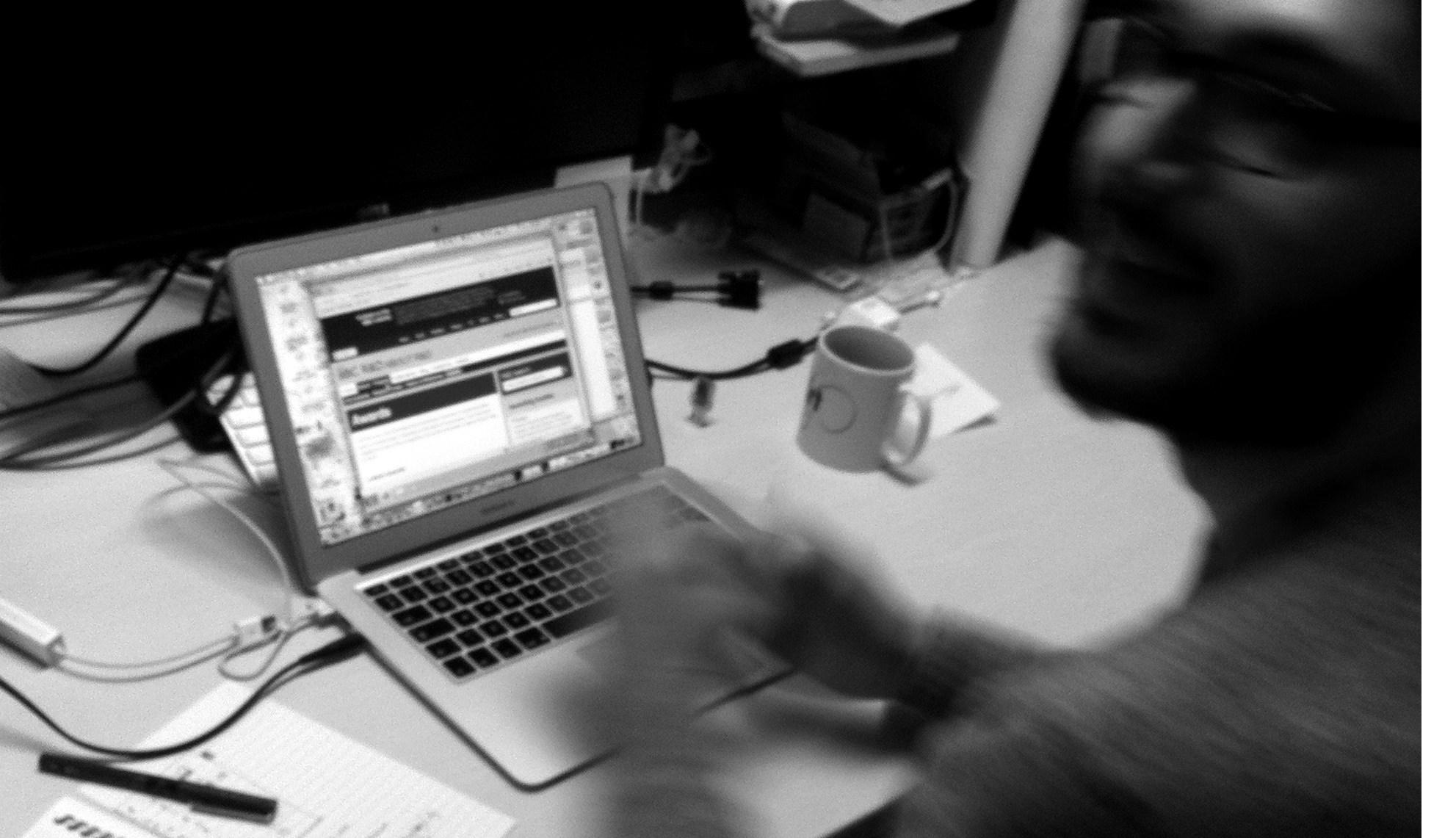 Photo: working on the R&D website