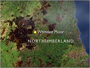 Whitelee Moor map
