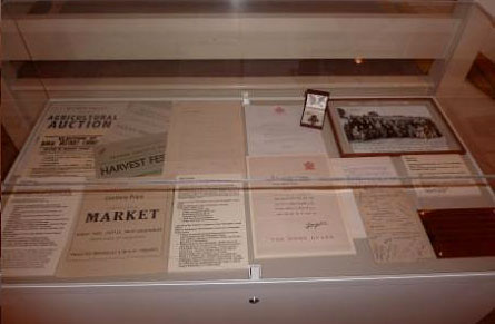 A display case from the exhibition at Abergavenny Museum