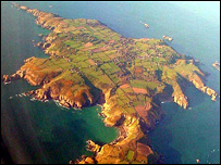 Sark from the air