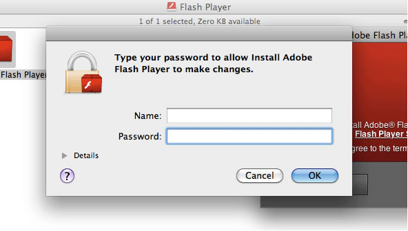 Flash download step 7 – Authenticate