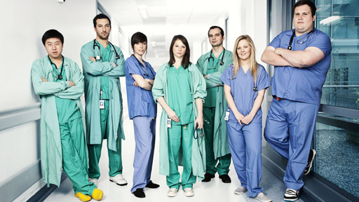 Junior Doctors (L-R): Andy Kong, Adam Beaney, Lucy Holmes, Katherine Conroy, Keir Shiels, Suzi Bachelor & Jon Barclay