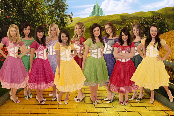 The young hopefuls vying to play Dorothy in Andrew Lloyd-Webber's production of The Wizard Of Oz line up in a publicity show for Over The Rainbow - one of the shows broadcast on the BBC HD channel