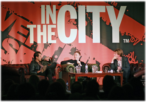 Mark Ronson and Mike Smith in conversation at In The City