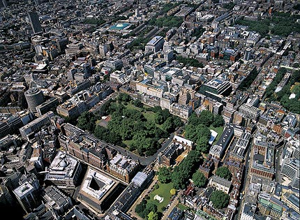 Aerial view of Lincoln's Inn Fields.