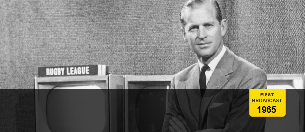 The Duke of Edinburgh in a BBC studio in 1965.