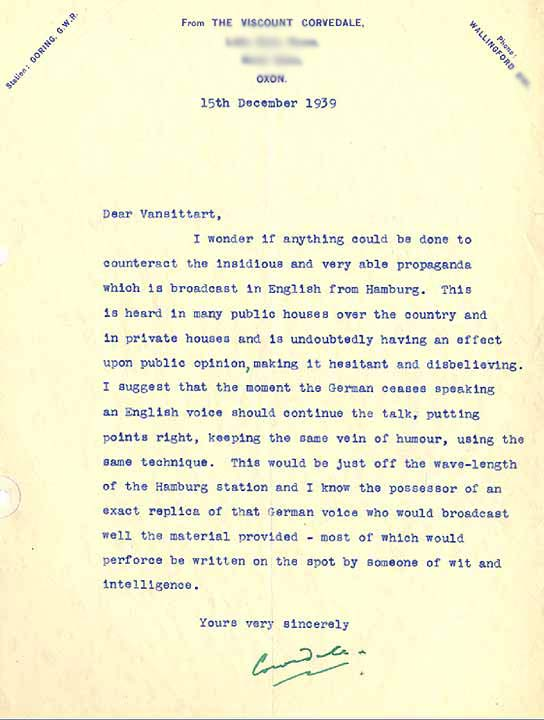 BBC Archive Lord Haw Haw A Letter from the Son of a Former