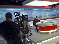 The set of the BBC One O'Clock News