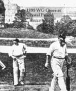 WG Grace playing cricket