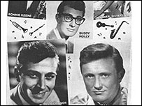 Buddy Holly, Des O'Connor and Gary Miller