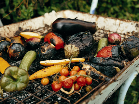 Tunisian smoky-grilled vegetables