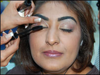 BBC Leicester's Rupal Rajani having a makeover