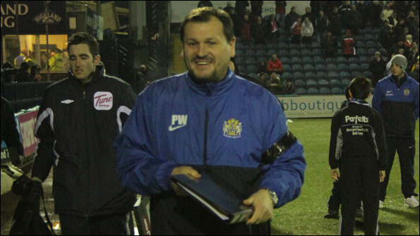 Stockport County caretaker manager Peter Ward.