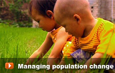 Watch 'Managing population change' video