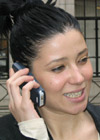 May speaking on a mobile phone