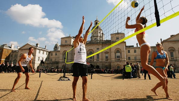 Beach volleyball will be played at Horse Guards at London 2012