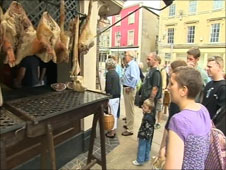 The Butchers in Shepton, as recreated for Turn Back Time