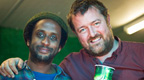 Guy and Pete from Elbow at Glastonbury