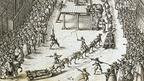Execution of Guy Fawkes and associates, from Verratheren in England, 1606