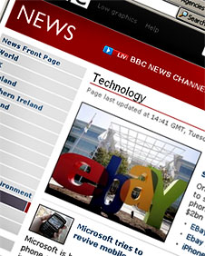 Screengrab of BBC News technology website