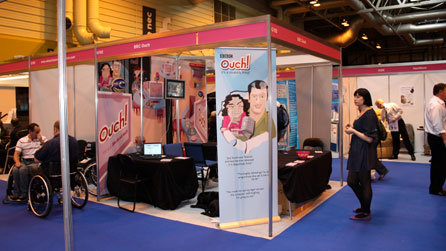 Ouch's stand at Naidex, nestled away in a corner of the massive National Exhibition Centre