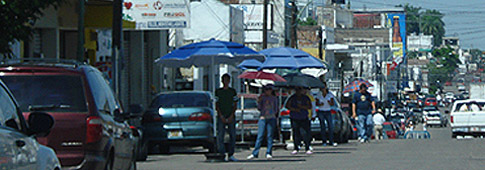 Men Selling US dollars in the street of Culiacán
